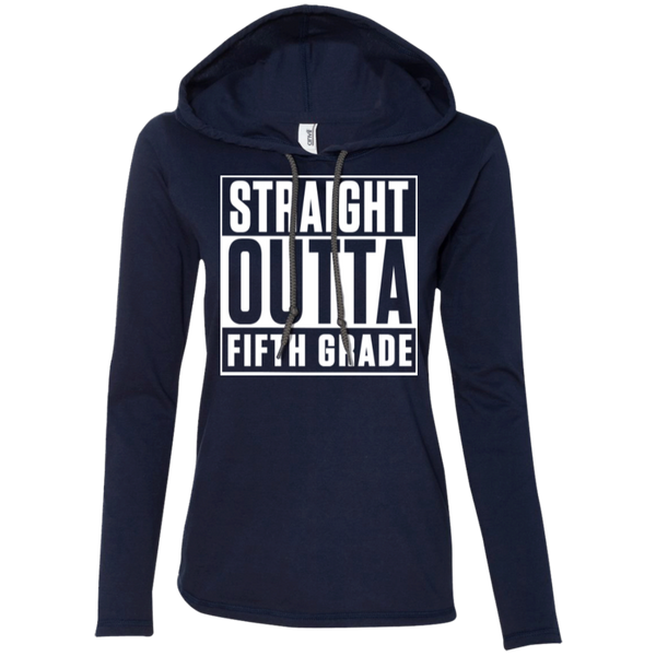 Straight Outta Fifth Grade  LS T-Shirt Hoodie - TeachersLoungeShop - 4