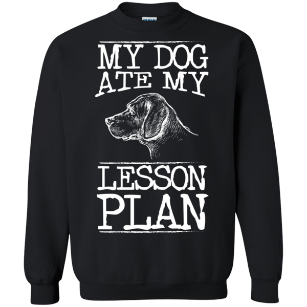 My Dog Ate my Lesson Plan Crewneck Pullover Sweatshirt  8 oz - TeachersLoungeShop - 1