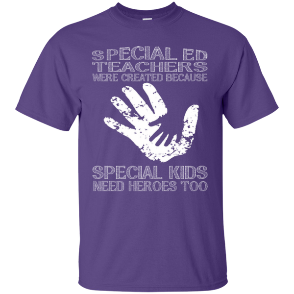 Special Ed Teachers are Created because Special Kids need Heroes T-shirt Hoodie - TeachersLoungeShop - 3