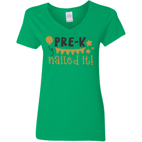 Pre-K Nailed it   !  V neck Tshirt