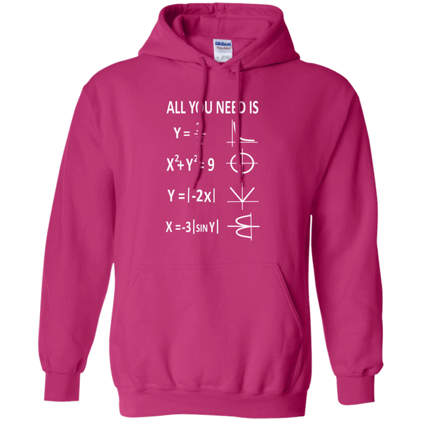 All You Need is Love Pullover Hoodie 8 oz - TeachersLoungeShop - 7
