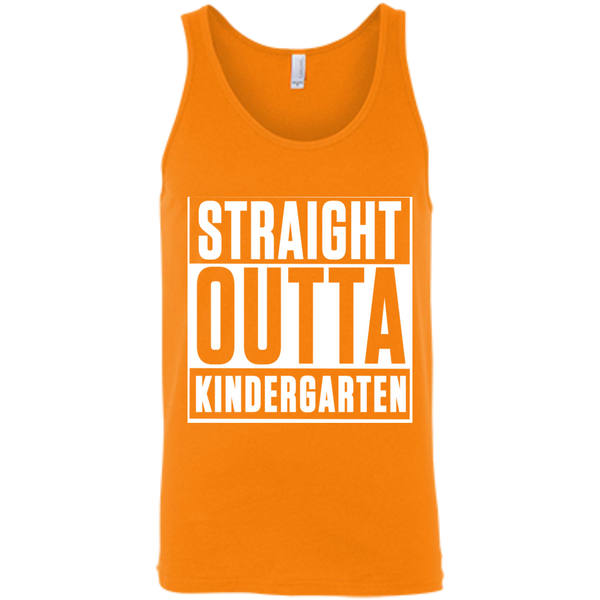 Straight Outta Kindergarten  Bella +Canvas Unisex Tank - TeachersLoungeShop - 3