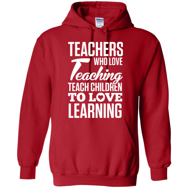 Teachers who love teaching  Hoodie 8 oz - TeachersLoungeShop - 9