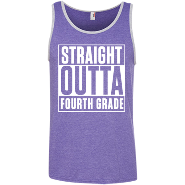 Straight Outta Fourth Grade   % Ringspun Cotton Tank Top - TeachersLoungeShop - 4