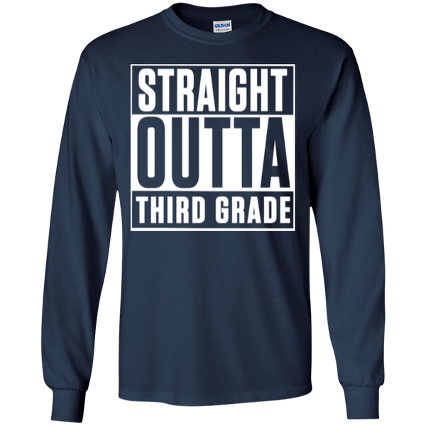 Straight Outta Third Grade LS Cotton Tshirt - TeachersLoungeShop - 7