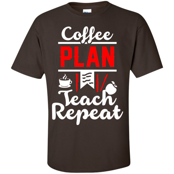 Coffee Plan Teach Repeat  T-Shirt - TeachersLoungeShop - 3