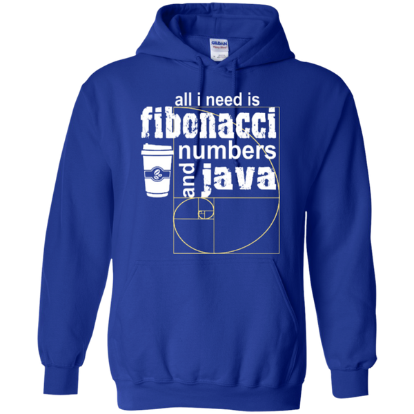 All i need is fibonacci numbers and java  Hoodies - TeachersLoungeShop - 12