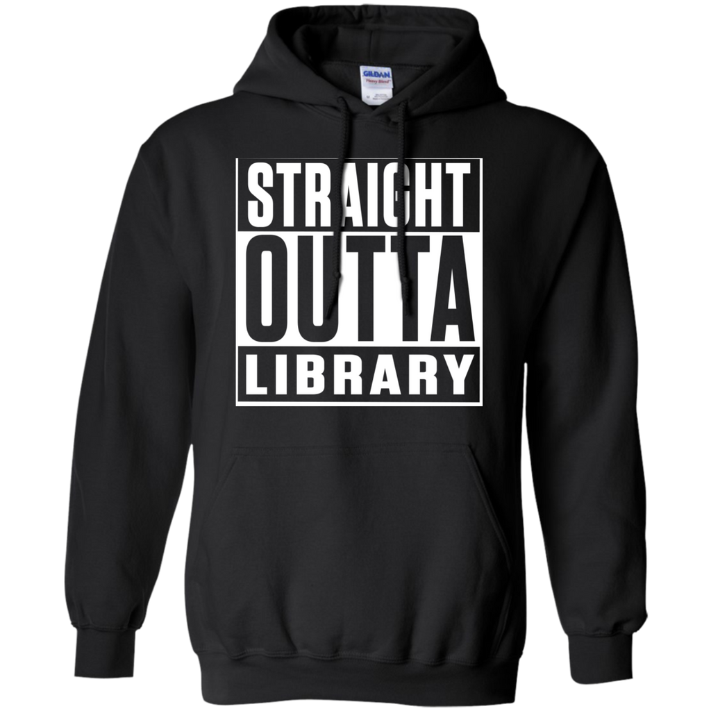 Straight Outta Library  Hoodie 8 oz - TeachersLoungeShop - 1