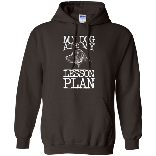 My Dog Ate my Lesson Plan  Hoodie 8 oz - TeachersLoungeShop - 5