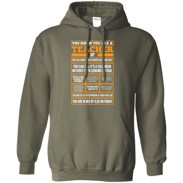 You know You are a Teacher if  Hoodie 8 oz - TeachersLoungeShop - 7