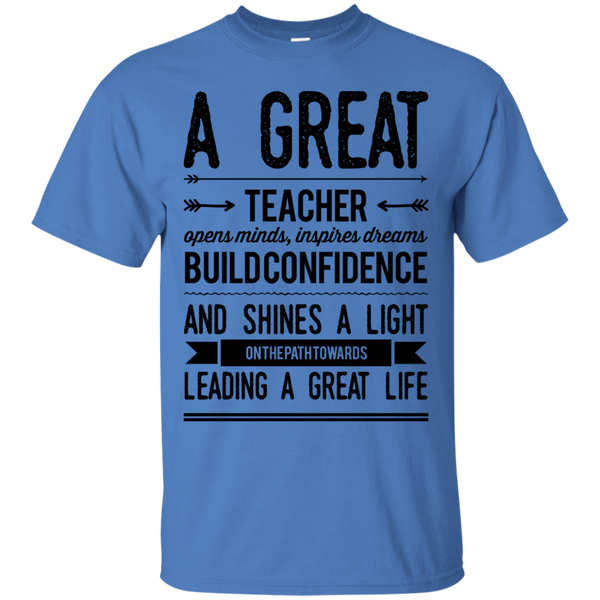 A Great Teacher opens, minds , inspires , dreams  T-Shirt