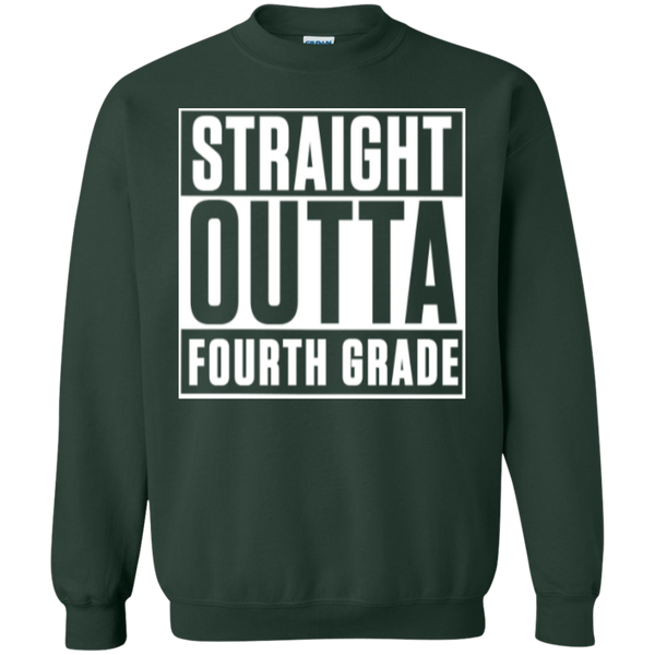Straight Outta Fourth Grade  Crewneck Pullover Sweatshirt  8 oz - TeachersLoungeShop - 4