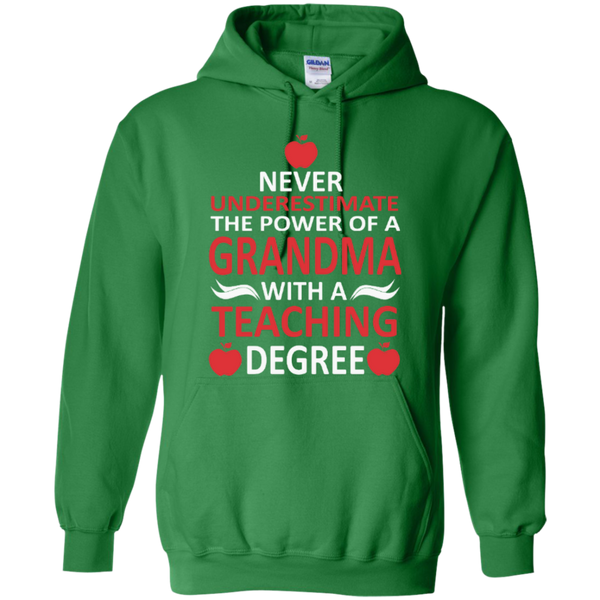 Never Underestimate the Power of a Grandma with a Teaching Degree T-shirt Hoodie - TeachersLoungeShop - 8