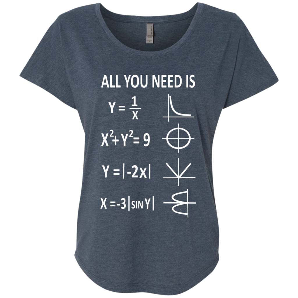 All You Need is Love Next Level Ladies Triblend Dolman Sleeve - TeachersLoungeShop - 1