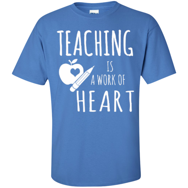 Teaching is a Work of Heart Teacher T-shirt Hoodie - TeachersLoungeShop - 5