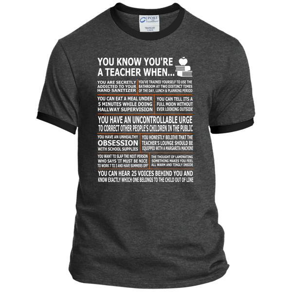 You Know You're a Teacher When Ringer Tee - TeachersLoungeShop - 3