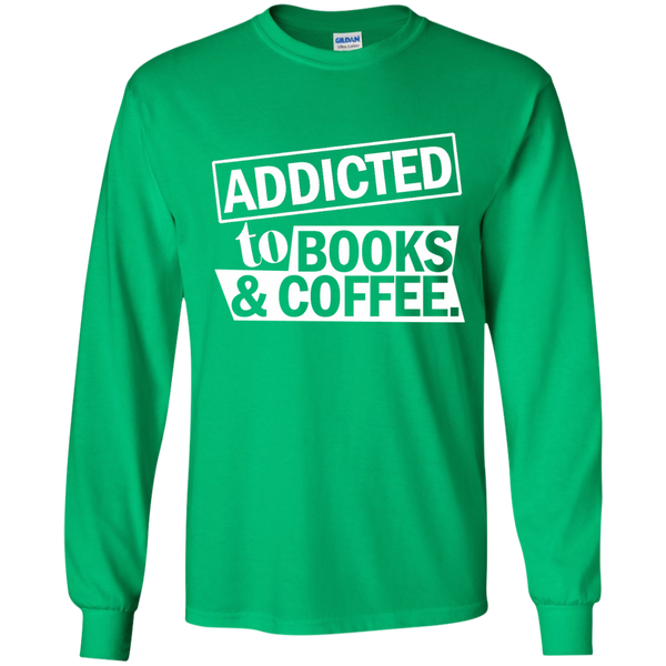 Addicted to Books and Coffee LS Ultra Cotton Tshirt - TeachersLoungeShop - 5