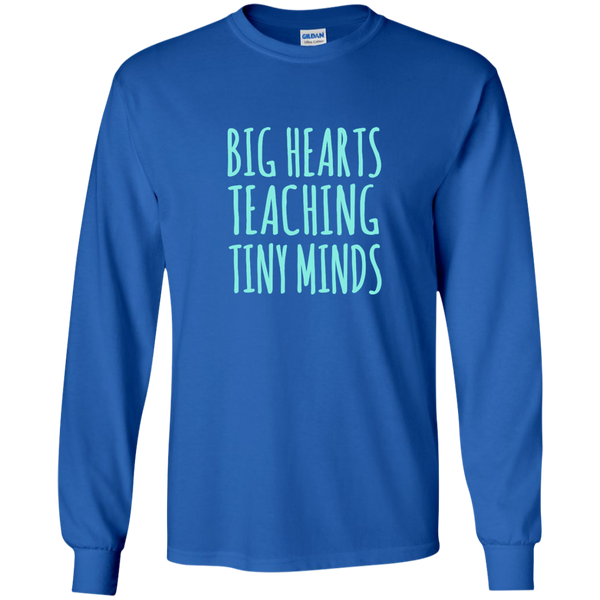 Big Hearts Teaching Tiny Minds LS Ultra Cotton Tshirt - TeachersLoungeShop - 8