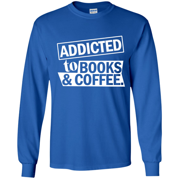 Addicted to Books and Coffee LS Ultra Cotton Tshirt - TeachersLoungeShop - 10