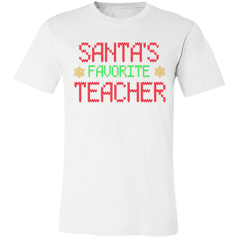 Santa's favorite Teacher T-Shirt