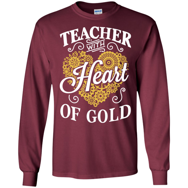 Teacher with Heart of Gold  Ultra Cotton Tshirt - TeachersLoungeShop - 4