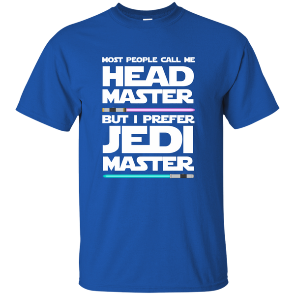 Most People Call Me Head Master But I Prefer Jedi Master Cotton T-Shirt - TeachersLoungeShop - 9