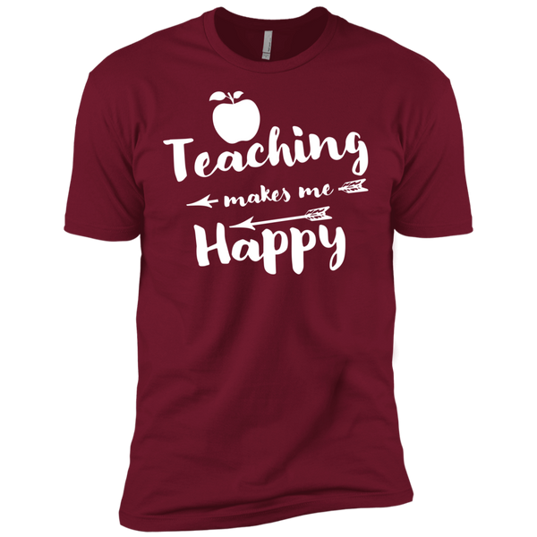 Teaching makes me Happy    Level Premium Short Sleeve Tee - TeachersLoungeShop - 3