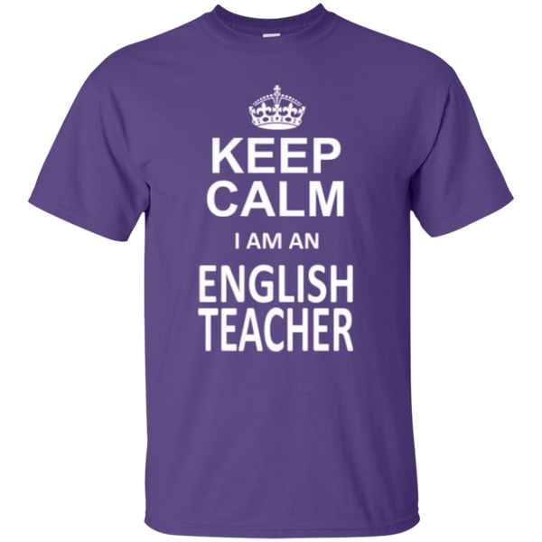 Keep Calm i'm an English Teacher T-shirt Hoodie - TeachersLoungeShop - 2