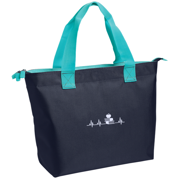 Teacher Heartbeat  Zippered Tote - TeachersLoungeShop - 3
