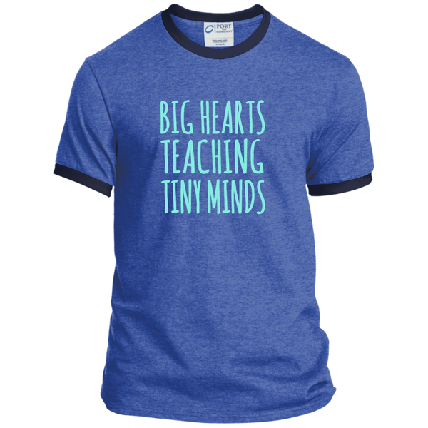 Big Hearts Teaching Tiny Minds Ringer Tee - TeachersLoungeShop - 6