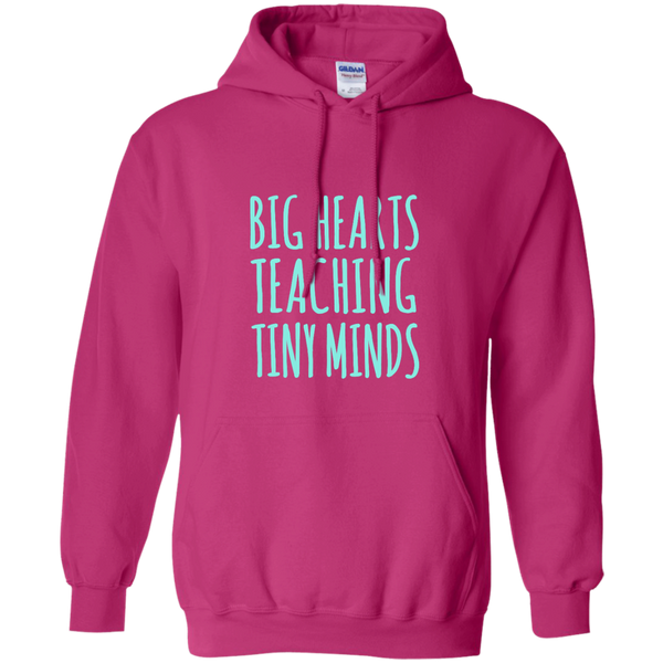 Big Hearts Teaching Tiny Minds Pullover Hoodie 8 oz - TeachersLoungeShop - 7