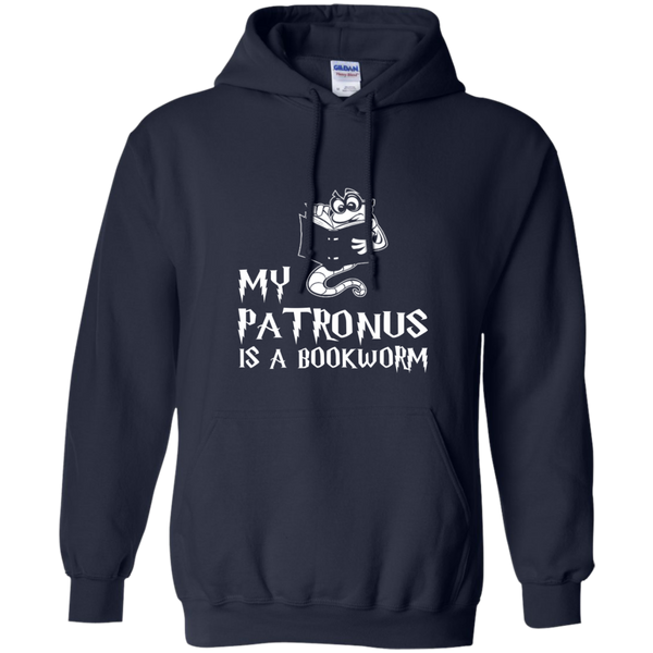 My Patronus is a Book Worm Pullover Hoodie 8 oz - TeachersLoungeShop - 2