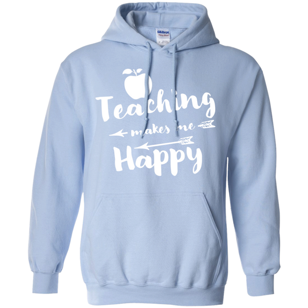 Teaching makes me Happy     Hoodie 8 oz - TeachersLoungeShop - 9