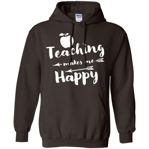 Teaching makes me Happy     Hoodie 8 oz - TeachersLoungeShop - 5