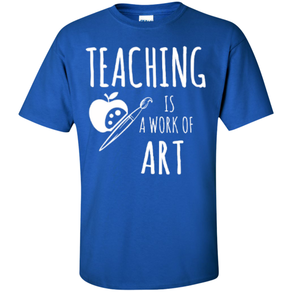 Teaching is a Work of Art Teacher T-shirt Hoodie - TeachersLoungeShop - 2