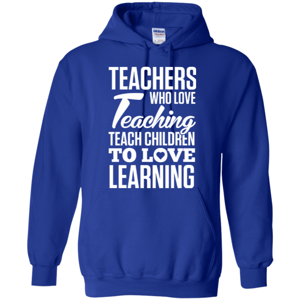 Teachers who love teaching  Hoodie 8 oz - TeachersLoungeShop - 10