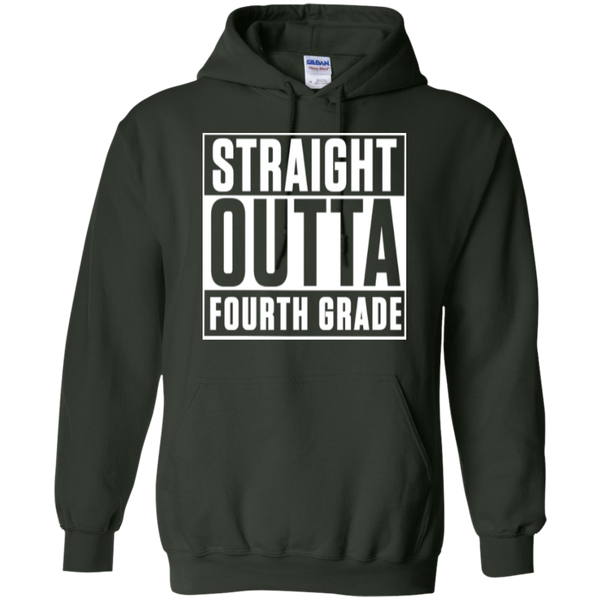 Straight Outta Fourth Grade   Hoodie 8 oz - TeachersLoungeShop - 6