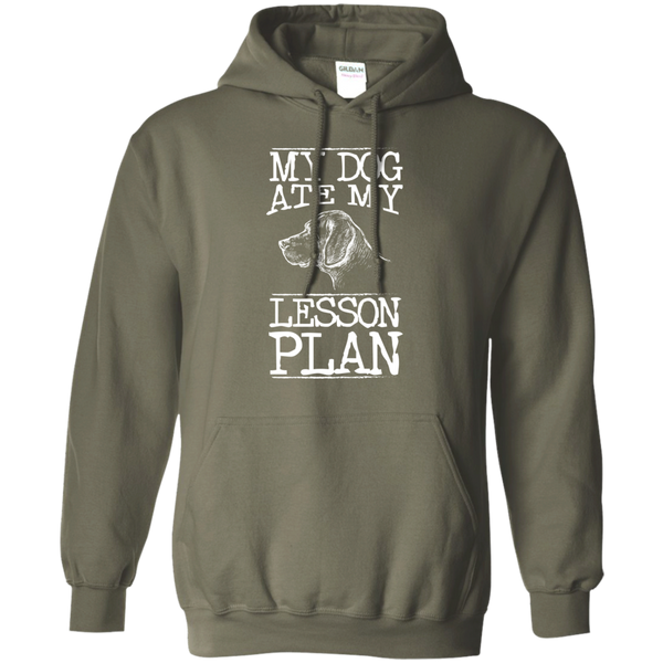 My Dog Ate my Lesson Plan  Hoodie 8 oz - TeachersLoungeShop - 12