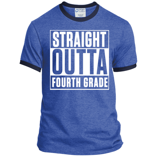 Straight Outta Fourth Grade  Ringer  Tee - TeachersLoungeShop - 6