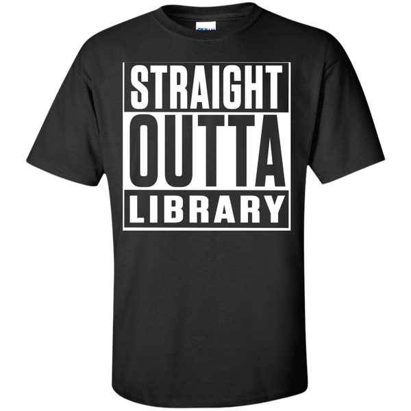 Straight Outta Library T-Shirt - TeachersLoungeShop - 1