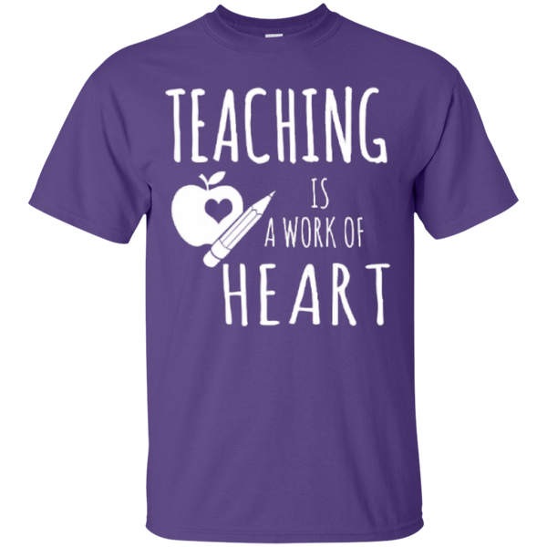 Teaching is a Work of Heart Teacher T-shirt Hoodie - TeachersLoungeShop - 3