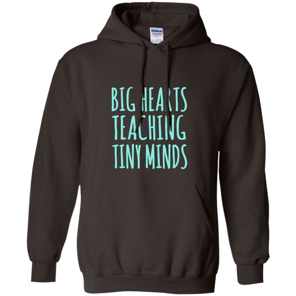Big Hearts Teaching Tiny Minds Pullover Hoodie 8 oz - TeachersLoungeShop - 5