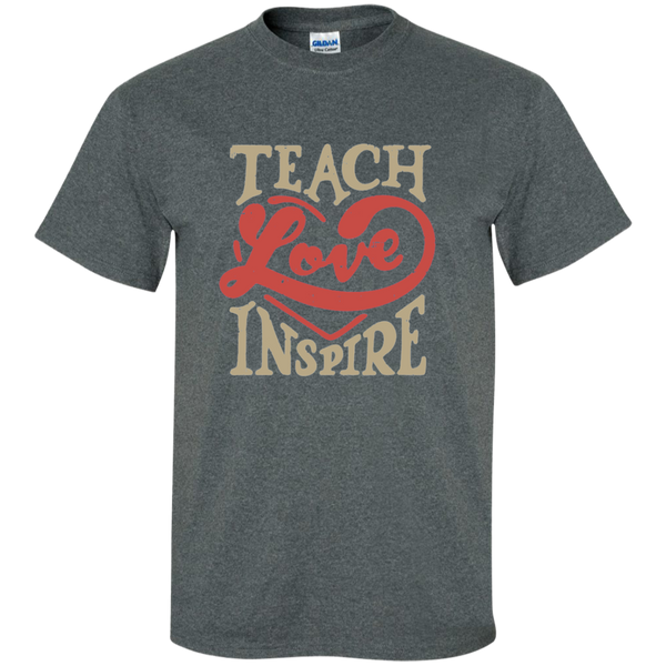 Teach Love Inspire Teacher Cotton T-Shirt - TeachersLoungeShop - 6