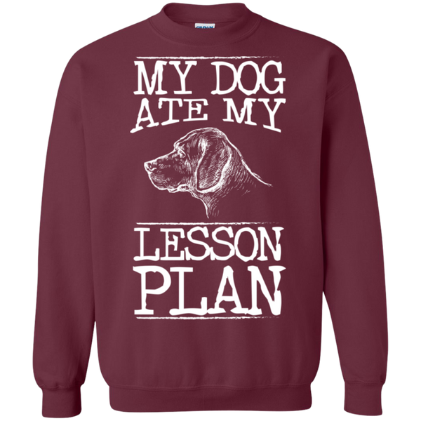 My Dog Ate my Lesson Plan Crewneck Pullover Sweatshirt  8 oz - TeachersLoungeShop - 2