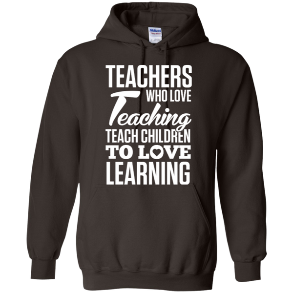 Teachers who love teaching  Hoodie 8 oz - TeachersLoungeShop - 2