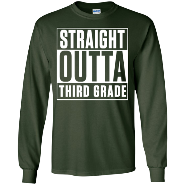 Straight Outta Third Grade LS Cotton Tshirt - TeachersLoungeShop - 3