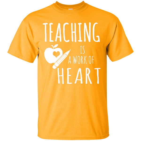 Teaching is a Work of Heart Teacher T-shirt Hoodie - TeachersLoungeShop - 2