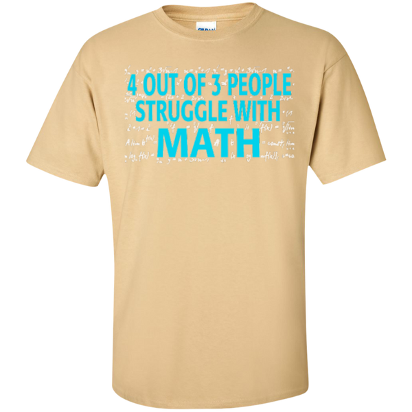 4 out of 3 People Struggle with Math   T-Shirt - TeachersLoungeShop - 3