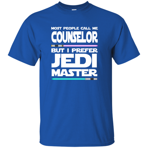 Most People Call Me Counselor But I Prefer Jedi Master Cotton T-Shirt - TeachersLoungeShop - 9