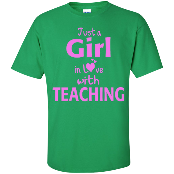 Just a Girl in Love with Teaching T-shirt Hoodie - TeachersLoungeShop - 5